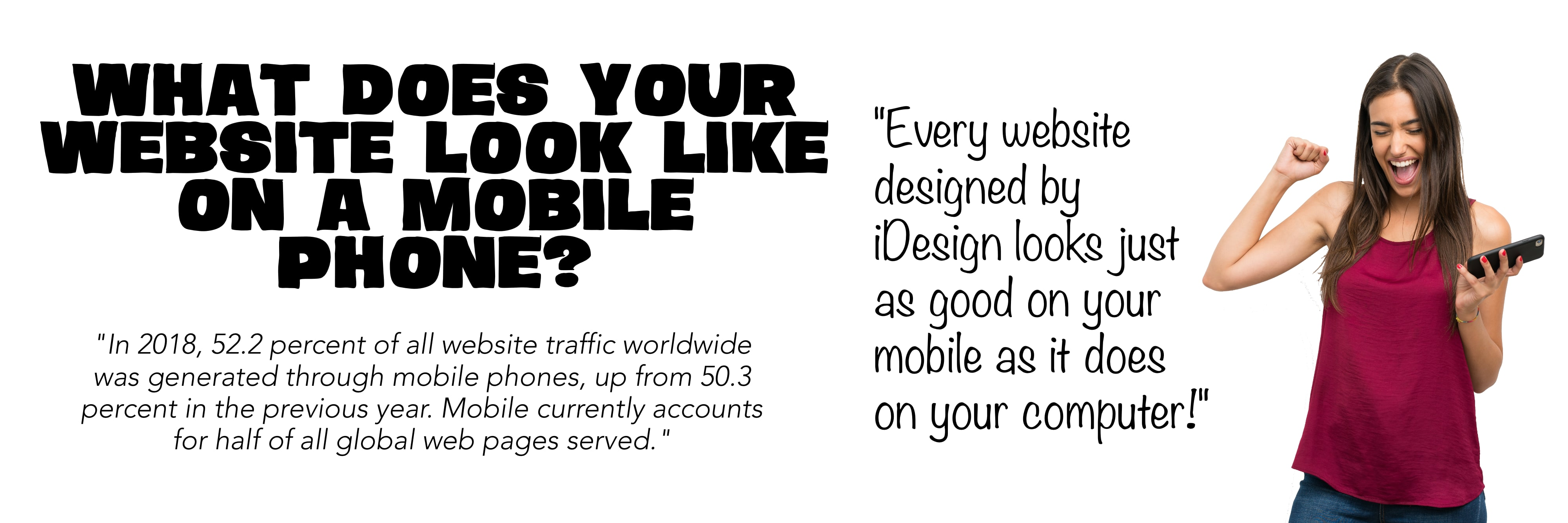 iDesign websites look great on your mobile phone